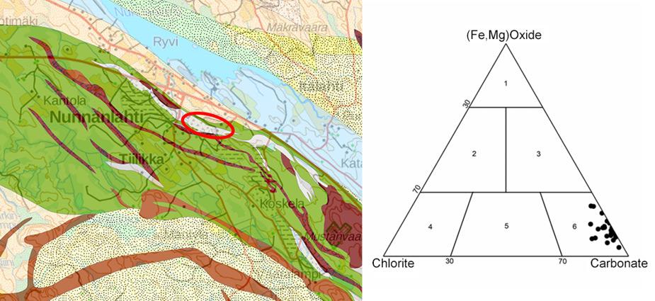 Die einzigartige Mammutti-Specksteinart, die NunnaUuni für seine Feuerstellen verwendet, stammt aus dem eigenen Steinbruch, das im Grünsteingürtel von Nunnanlahti liegt. Die Specksteinart aus diesem Bruch zählt zu den Karbonat-Specksteinen.